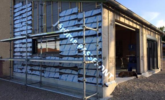 Début façade zinc jérôme PASSEPONT