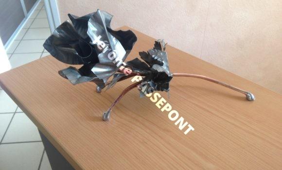 Fleur en zinc Jérôme PASSEPONT