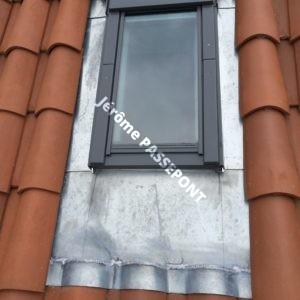 habergment en zinc four fenetre de toit velux jerome passepont